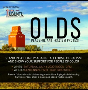 Olds BLM Anti-Racism Poster